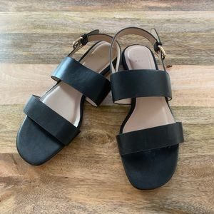 Cute and Casual Black Strappy Sandals